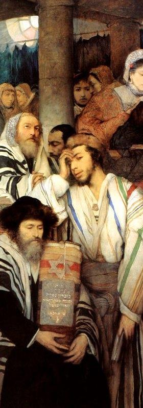 Jews Praying in the Synagogue-ColorVert